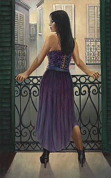 Bourbon Street Balcony  by Geraldine Arata
