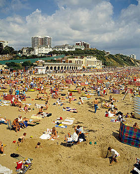 Bournemouth Beach in 80s England by David Davies