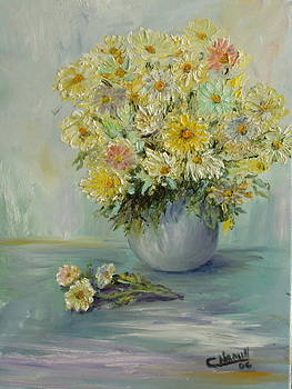 Bowl of Daisies by Catherine Hamill