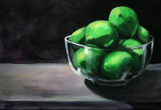 Bowl of Limes by Maryn Crawford