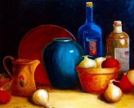 Bowl of Onions by Jeanene Stein