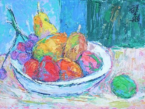 Bowl of pastel fruit by Siang Hua Wang