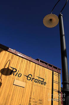 Box car and shadow by Edward R Wisell