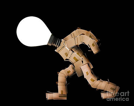 Simon Bratt Photography LRPS - Box man with light bulb head