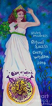 Box Of Wine Queen Lou Lou by Mardi Claw