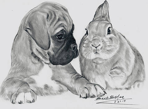Barb Baker - Boxer and Bunny