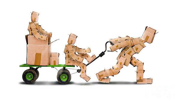 Simon Bratt Photography LRPS - Boxman pulling boxkids on trolley