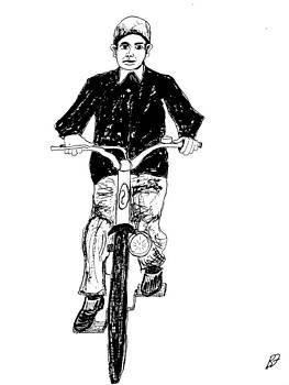 Boy and Bike 1 by Allen Forrest