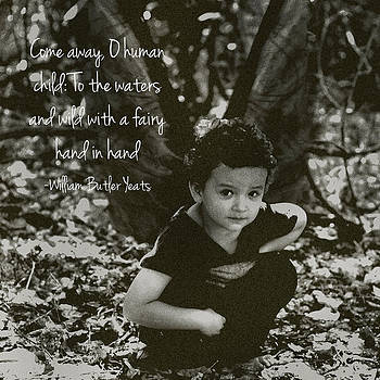 Boy Fairy and Quote by Cherie Haines