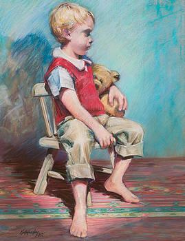 Boy In Chair by Beverly Amundson