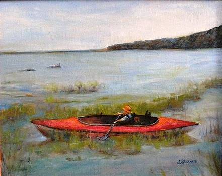 Boy in Kayak by Dorothy Siclare