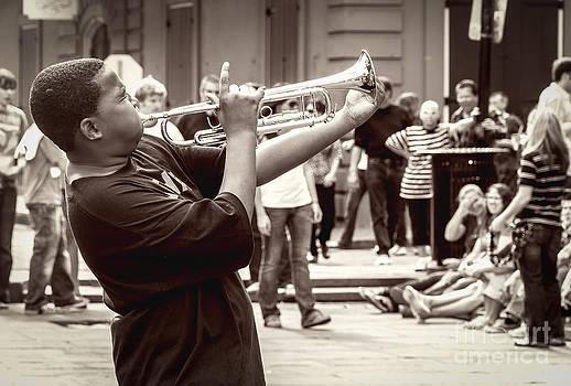 Kathleen K Parker - Boy on a Trumpet in NOLA