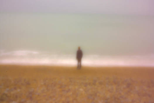 Boy on the beach by Yvonne Gallagher