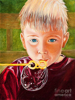 Boy with Bubbles by Jane Honn
