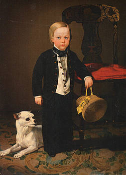 Boy With Dog by Charles C Nahl