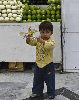 Allen Sheffield - Boy with Toy - Quito Market