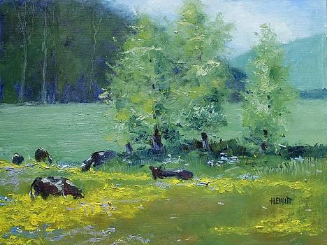 Boyhood Memories/ Cows In the Field by Philip Hewitt