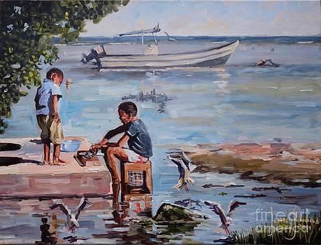 Boys At Sea-side by Jeffrey Samuels