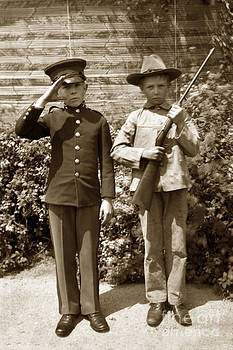 California Views Mr Pat Hathaway Archives - Boys playing army 1898
