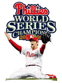 Brad Lidge WS Champs Logo by Scott Weigner