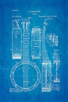 Ian Monk - Bradbury Banjo Patent Art 1882 Blueprint