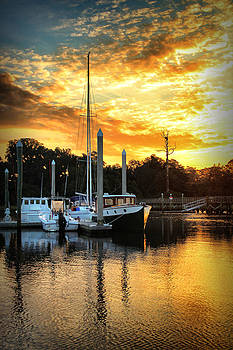 Bradley Creek Marina Sunrise #2 by Phil Mancuso