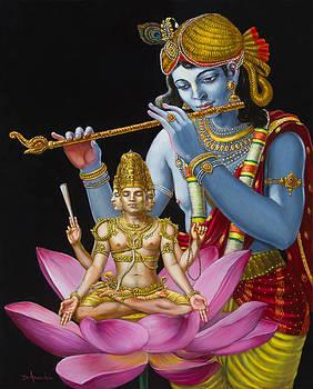 Dominique Amendola - Brahma Hearing Vedic Knowledge From Krishna