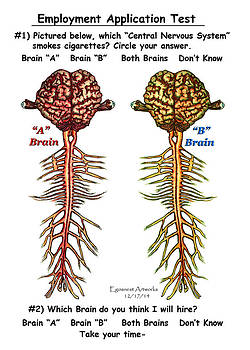 Brain Compared with Smoking Brain by Michael Shone SR