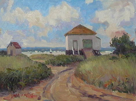 Brant Point Boathouse by Dianne Panarelli Miller