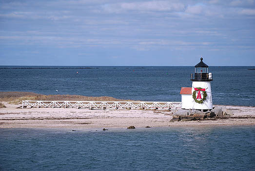 Brant Point Light in winter by Lorena Mahoney