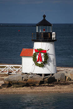 Brant Point Lighthouse Nantucket by Lorena Mahoney
