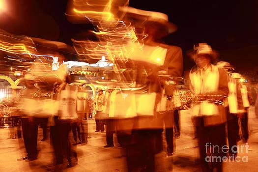 James Brunker - Brass band at night