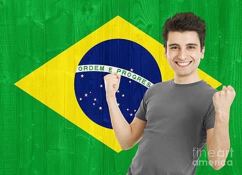 Brazilian Sports Fan by Luis Alvarenga