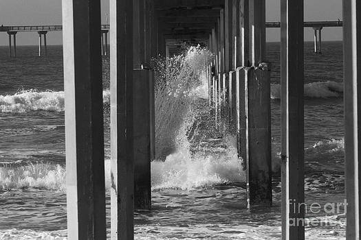 Breakers and Pier by Edward R Wisell
