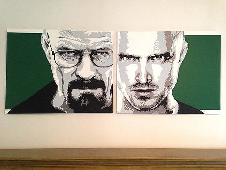 breaking Bad - Original Acrylic Painting - Backwards by Matthew Dunn