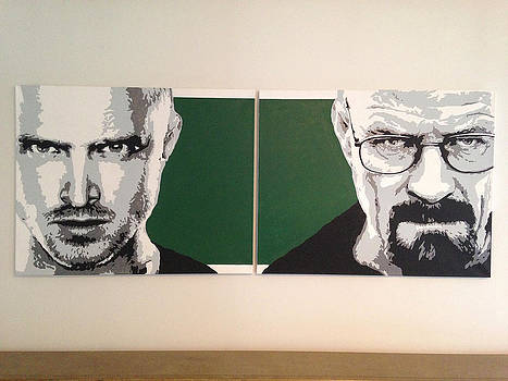 Breaking Bad - Original Acrylic Painting  by Matthew Dunn
