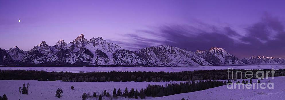 Winter Landscape- Grand Tetons at Dawn by Feryal Faye Berber