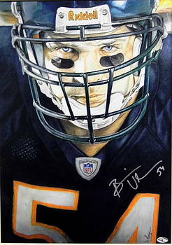 Brian Urlacher-Autographed by Dan Troyer