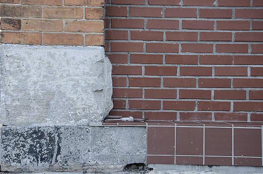 Brick corner Textures in Downtown Hendersonville NC by Wesley Corn