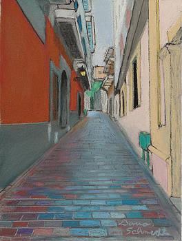 Brick Street in Old San Juan Puerto Rico by Dana Schmidt