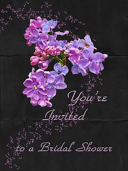 Mother Nature - Bridal Shower Invitation - Floral Lilacs