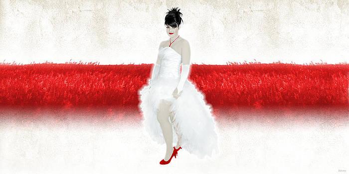Lady in Red by Ervin Hajdu