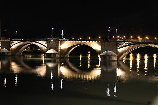 Bridge at night by Francesco Scali