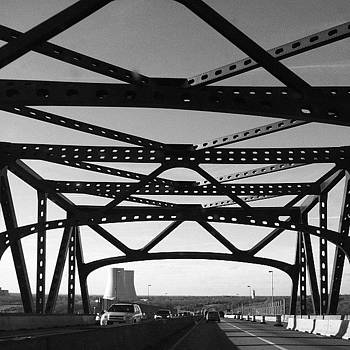 #bridge #blackandwhite #black #white by Matthew Tarro