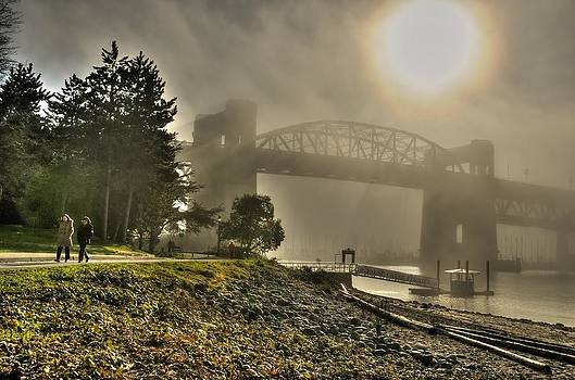 Bridge in Fog by Doug Farmer