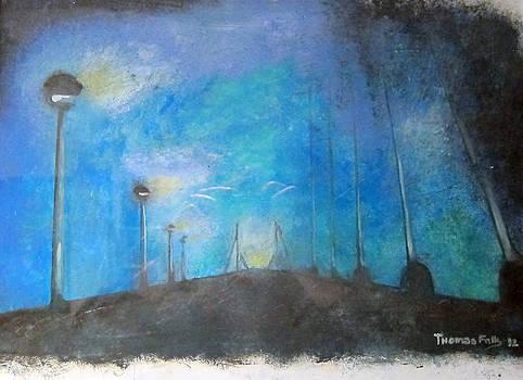 Bridge in night by Thomas Falk