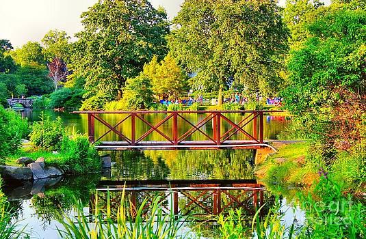 Bridge Over The Pond by Judy Palkimas