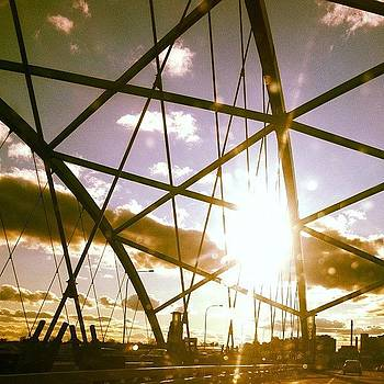 #bridge #sunset #sun #rays #sunrays by Matthew Tarro