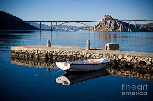 Bridge to island Krk by Viktor Pravdica