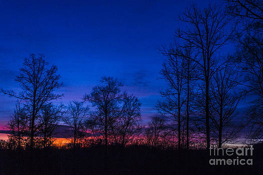 Bright Blue morning by Debra K Roberts